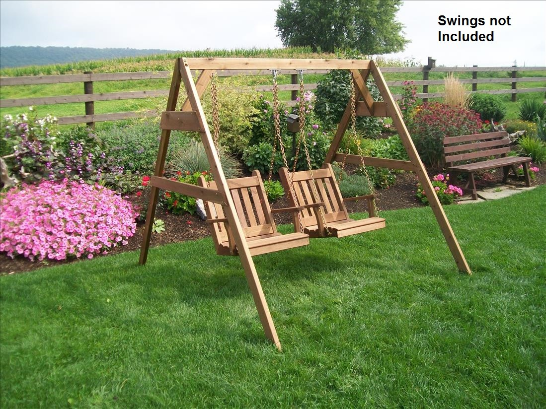 Cedar AFrame Stand for Swing or Swing Bed with Hangers
