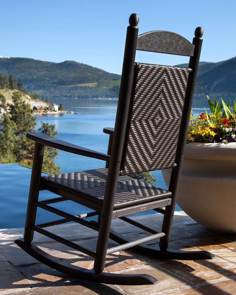 POLYWOOD Woven Jefferson Outdoor Rocking Chair  The