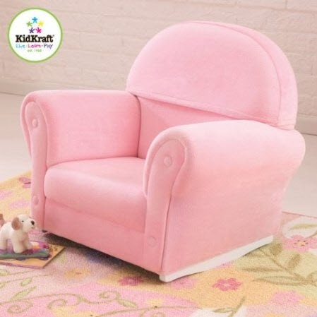 kids upholstered rocking chair covers pink kid s the company rocker
