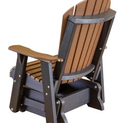 Sunbrella Adirondack Chair Cushions Office Chairs Ikea Heritage Single Outdoor Glider - The Rocking Company
