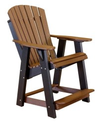 High Adirondack Outdoor Patio Chair