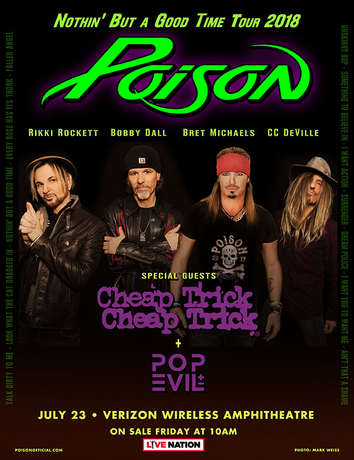 Poison Cheap Trick and Pop Evil join forces for US summer