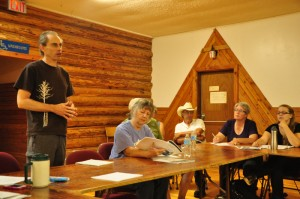 Dunster Community Assoc. Meeting UNBC speaker (2)