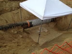 TM pipeline work near Poolis web