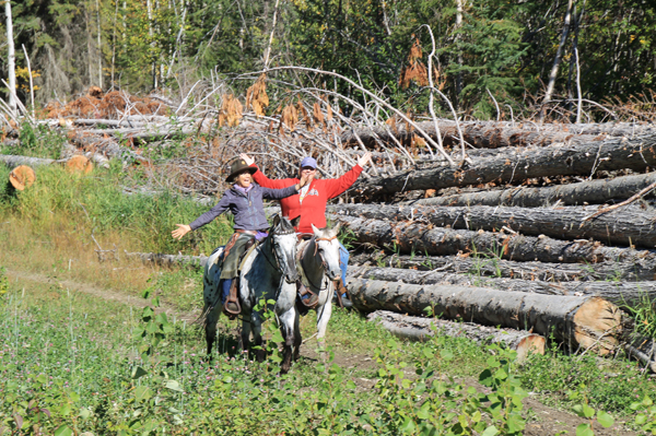 Robson Valley Back Country Horsemen club's poker ride