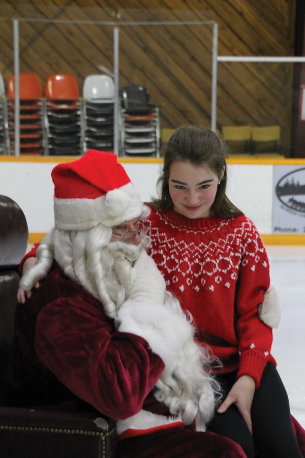 A holiday skating event
