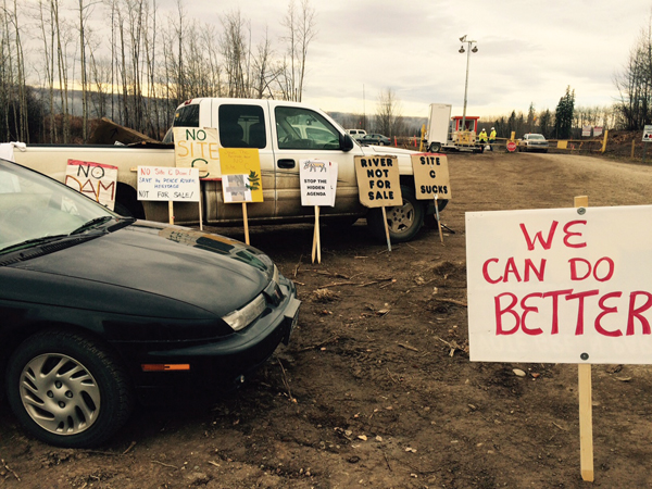 Site C protest oct 2015 peace river (6)