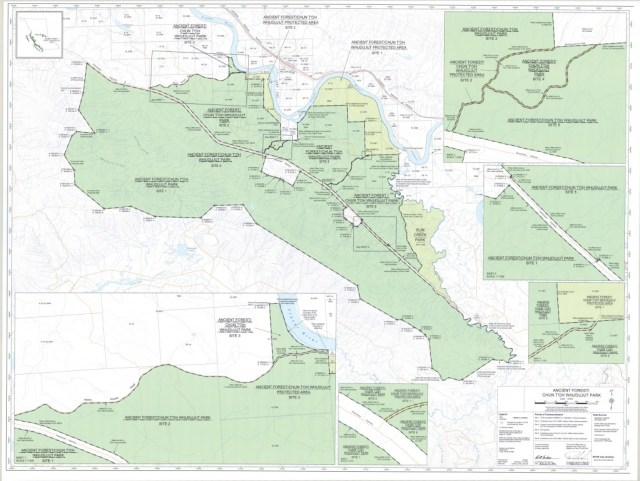 Ancient Forest Dome Creek Robson Valley map BC