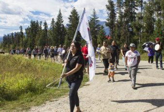 Photo: Evan Matthews Jara Jules leads her people back to Tête Jaune, where she says her relatives were forcefully displaced from over 100 years ago.