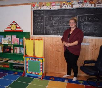 Melissa Shea — aka Madame Boulianne — is happy to have her new preschool in McBride, the first of its kind and only early French immersion in the Valley.