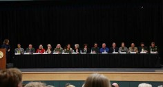 Candidates for Valemount Mayor and Council, Robson Valley School District Trustee and Regional District Director for Area H came together last week during the Valemount Chamber of Commerce's All Candidates Forum. / LAURA KEIL