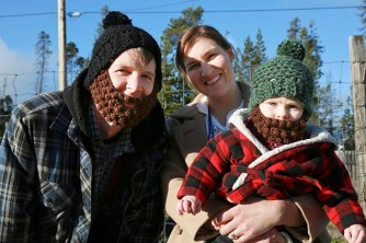 A pioneer family brought their bearded son, Finlay, to a Halloween party. / LAURA KEIL