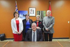 McBride's new Council L to R Rosemary Hruby, Lucille Green, Diane Smith and Al Frederick. / ANDREA ARNOLD
