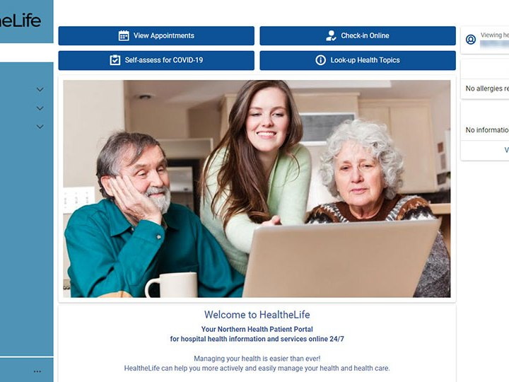 HealtheLife – Northern Health Patient Online Portal