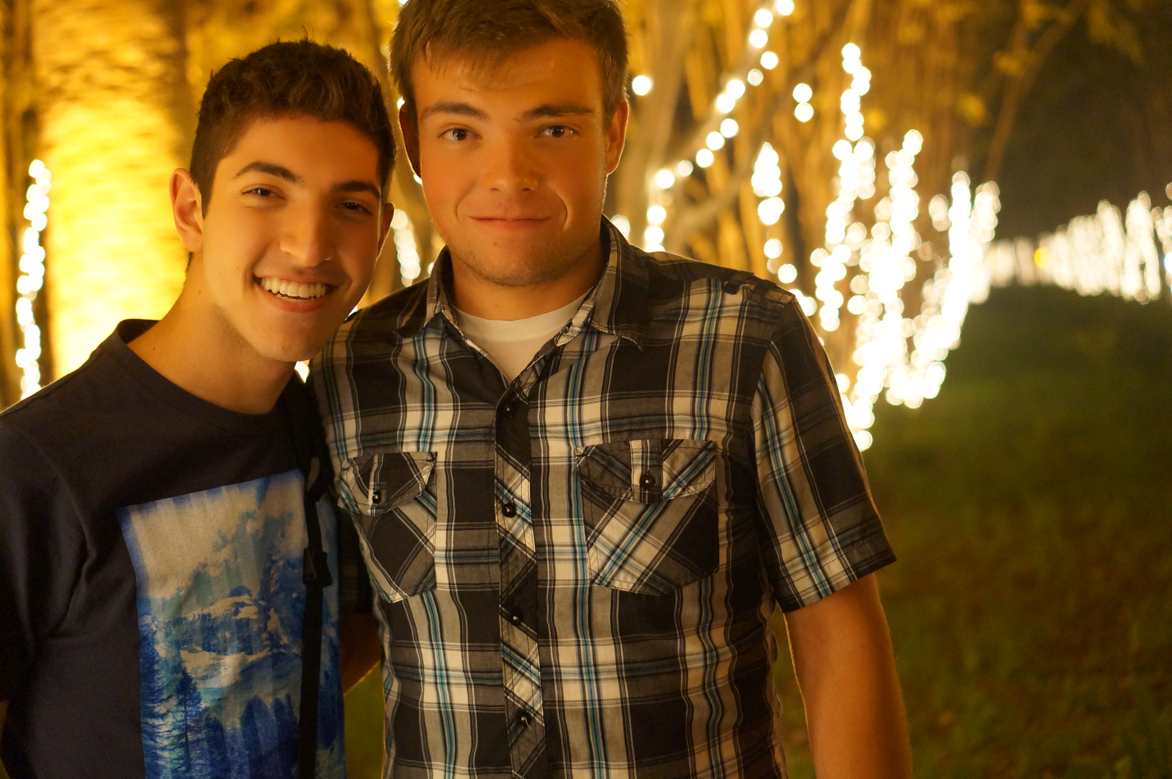 We went to see fireworks together :)