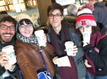Task: Hold something from Starbucks.
