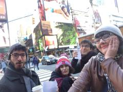 Task: Photo with Billboard in Times Square.