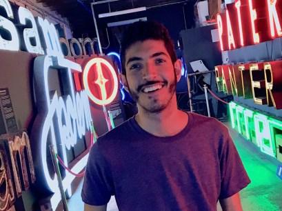Rocky in Neon Muzeum