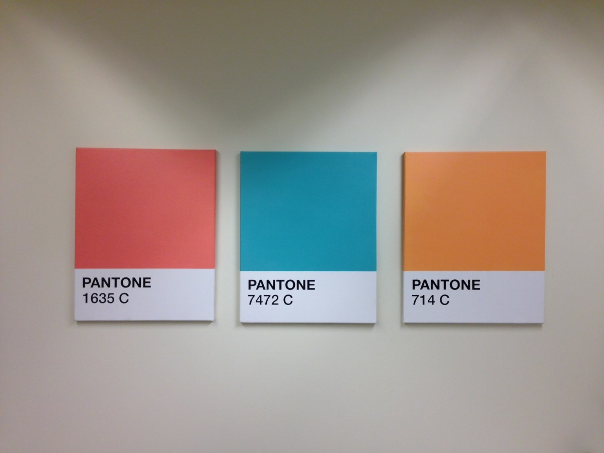 DIY Pantone Canvas Wall Art Color Swatches