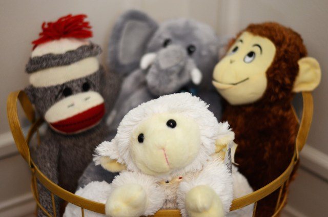 Baby Nursery Stuffed Animals with Sock Monkey