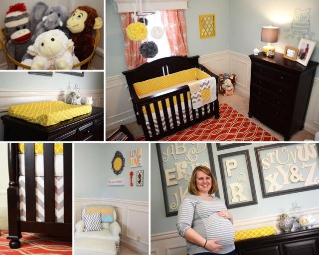 Modern Chevron Geometric Shapes Gender Neutral Baby Nursery Ideas
