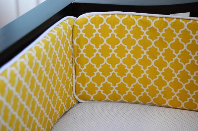 Modern Geometric Pattern Custom Crib Bumper Pad