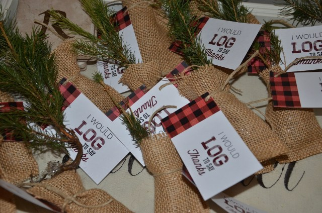 Lumberjack and Woodland Animals Themed First Birthday Party Favors