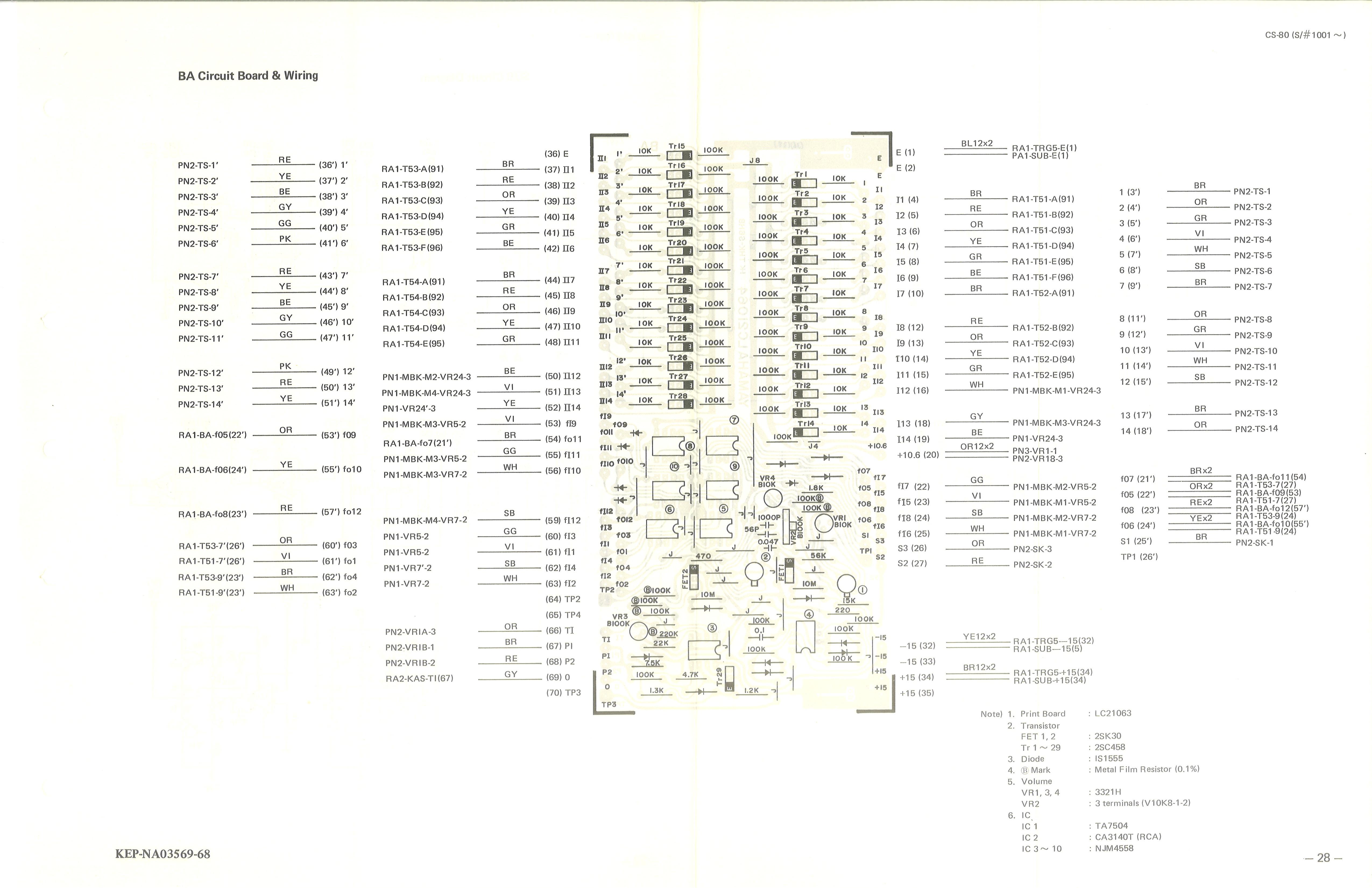 Yamaha CS-80 Service Manual