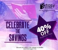 Extasy Books 40% off Sale