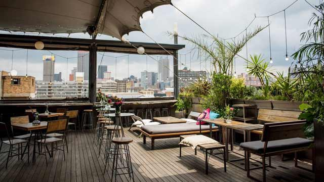 the living room with sky bar what kind of tile is best for rooftop in johannesburg guide cafe