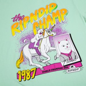 Camiseta Rip N Dip Riding Champ Light Mint