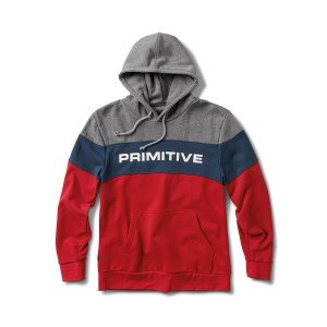 Sudadera Primitive Levels Hood Grey/Navy/Red