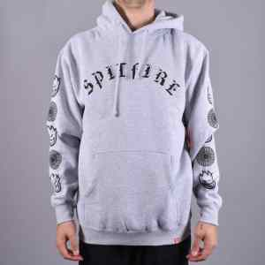 Sudadera Capucha Spitfire Old E Combo Grey Heather