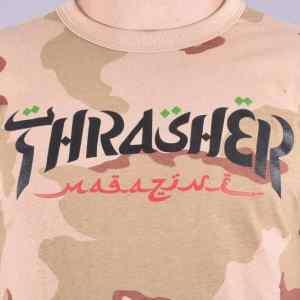 Camiseta Thrasher Calligraphy Desert Camo