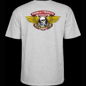 Camiseta Powell Peralta Winged Ripped Heather Grey