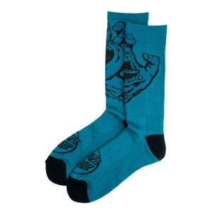 Calcetines Santa Cruz Screaming Hand Mono Petrol Blue