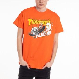 Camiseta Thrasher 40 Years Neckface Orange