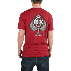 Camiseta Independent CBB Cross Spade Maroon