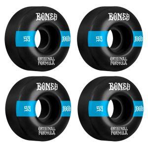 Ruedas Bones 53mm 100´S V4 100A Black