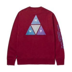 Sudadera  Huf Prism Triple Triangule Bloodstone