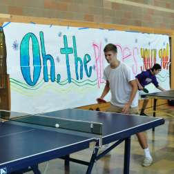 Riders go hard in ping-pong