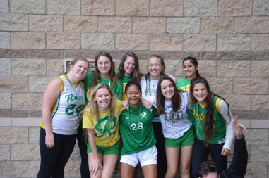 Senior girls reaping the green and gold