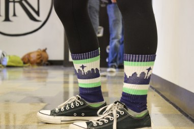 Seattle Skyline socks for Seattle Day
