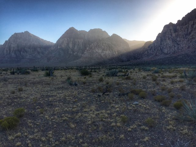 Driving Through Red Rock Canyon