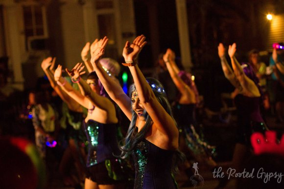 The Sirens Dancing Group in Mardi Gras Parade New Orleans Louisiana
