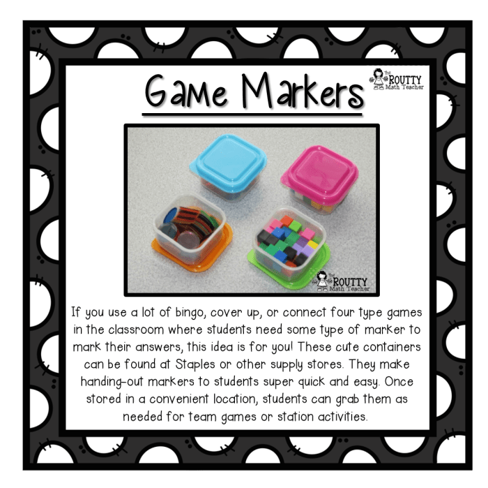 Game Markers