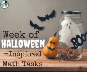 Week of Halloween-Inspired Math Tasks