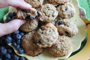 Banana Blueberry Cookies