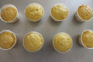 Bake the little cups directly on a baking sheet.