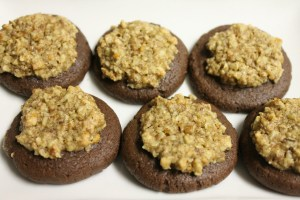 choc orange pecan baked close